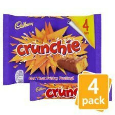 Cadbury Crunchie Chocolate Bar 4 Pack (104.4g)
