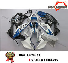 Injection White Black Bule Fairing Kit BodyWork for BMW S1000RR 2010 2011 2012