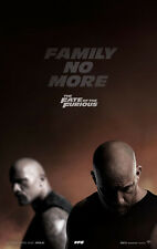 THE FATE OF THE FURIOUS MOVIE POSTER 2 Sided ORIGINAL Advance 27x40 VIN DIESEL