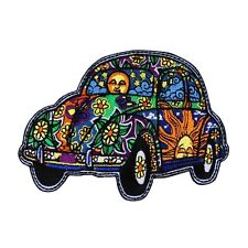 Dan Morris Beetle Bug Car Patch Psychedelic 60s Hippie Craft Iron-On Applique