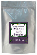 BULK Freeze Dried ORGANIC 100% Pure MAQUI Berry Powder ~ ONE KILO ~ Over 2 Pound