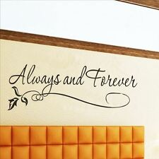 Huhome PVC Wall Stickers Wallpaper English Forever Love couple married-room Art