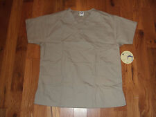 NWT O2 Uniforms STONE 2 Pocket Scrub Top Womens Medium M 330