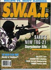 SWAT S.W.A.T. MAGAZINE AUGUST 1993 BULLETS VS. HEAVY CLOTHING