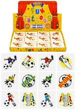 576 Mini Football Temporary Tattoos: Wholesale Job Lot of 12 assorted designs