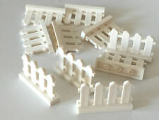 *NEW* 10 Pieces Lego WHITE PICKET Fence Train Castle 1x4x2  33303
