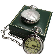 The Scots Guards Pocket Watch and Chain with Military Army Crest in Gift Case