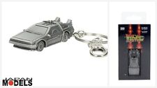 Back To The Future DeLorean Sd Toys 3D Metal Keyring Keychain Metallo New Nuovo