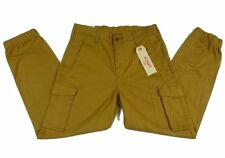 $70 Mens LEVIS Banded SLIM Cargo Pants 36 x 32 Brown Ginger cuffed chino jogger
