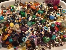2+ Pounds Loose Beads Jewelry Making Glass Charms  Vtg To Mod