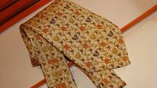 HERMES silk tie whimsical collection, Butterflies and roses. NEW