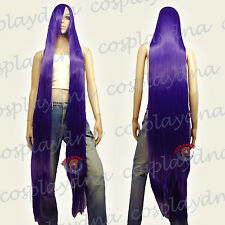 60 inch Hi_Temp Series Dark Purple Extra Long Cosplay DNA Wigs 81737