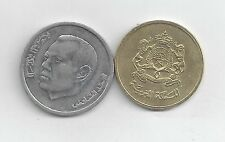2 DIFFERENT COINS from MOROCCO - 20 SANTIMAT & 1 DIRHAM (BOTH DATING 2002).