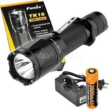 Fenix TK16 LED Tactical 1000 Lumen Flashlight w/ Fenix 18650 Battery and Charger