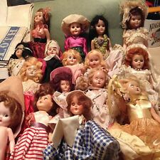 "Vintage Antique  6"" to 8""  dolls   (17 total)  all from the 1950' - mostly good"
