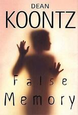 "DEAN KOONTZ ""FALSE MEMORY"" HARDBACK WITH DUST JACKET"