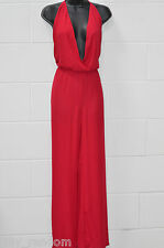 Womens Red Halterneck Formal Party Jumpsuit UK Size XL from SouthStore