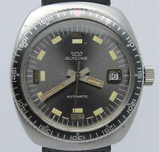 VINTAGE Glycine Mens Automatic 37mm Steel Divers Style Watch ETA 2472 w Date