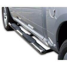 "4"" Oval Chrome Side Step Nerf Bars Running Boards 07-16 Chevy Silverado Crew Cab"