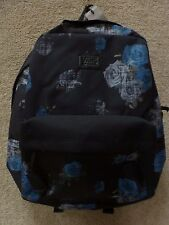 "Vans Kids Backpacks ""Rosette"" -- Color Black/Blue"