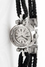 Vintage 1950s OMEGA .20ct VS G Diamond 18k White Gold Ladies Watch