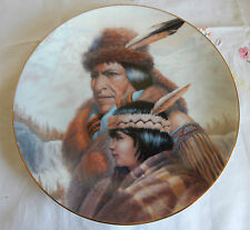 NEZ PERCE NATION PLATE BY GREGORY PERILLO  AMERICA'S INDIAN HERITAGE COA