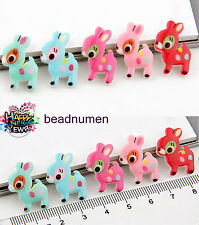 12pcs Deer Resin Flatback Scrapbooking For DIY Phone /Craft Christmas C12