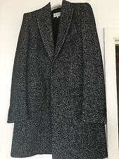 Maison Margiela wool and silk herringbone coat, UK 38