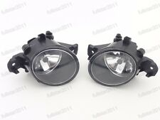 1Pair Clear Driving Fog Lights Lamps + Bulbs for Nissan Versa 2012-2014