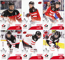 15-16 Team Canada Juniors Josh Morrissey /199 Red Exclusives 82 Upper Deck 2015