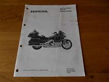 Honda GL1800/A, Dealer set up instructions manual ,  2001