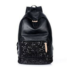 Womans Girls Fashion Sequined PU Backpack School Bag Travel Shoulders Bags ❤