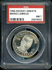 1996 Hockey Greats Coins Mario Lemieux ~PSA 7~ Pop 3 none higher Penguins*032*LB