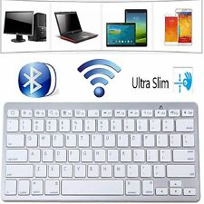 NEW Slim Wireless Bluetooth Keyboard For iMac iPad Android Phone Tablet PCs UK