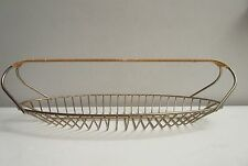 Vintage Mid Century Modern Wire Wrapped Handle Basket Eames Dansk Era