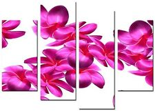 4 Panel Total size 98x78cm Large CANVAS ART ABSTRACT PRINTS ORCHID
