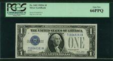 U.S. 1928-A  $1 SILVER CERTIFICATE BANKNOTE  FR-1601, CERTIFIED PCGS GEM 66-PPQ
