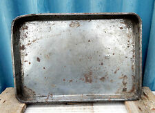 Vintage Metal Tin Baking Oven Tray - Very Worn & Shabby - Kitchenalia #3