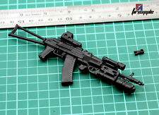"1/6 Scale Assembled Weapon Model AK74 Gun Model Toy For 12"" Soldier Figure"