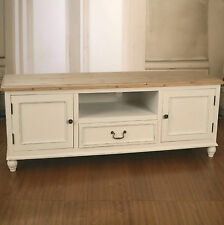 French Provincial Entertainment Unit Timber Top Antique White. BRAND NEW