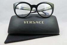 Versace MOD 3217 GB1 Shiny Black New Authentic Eyeglasses 51/19/140 w/Case