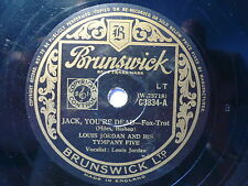 LOUIS JORDAN - JACK YOU'RE DEAD - UK BRUNSWICK 78RPM 1947 VG