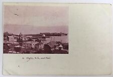 1904 Private Post Card Digby Nova Scotia Pier and buildings Postally Used