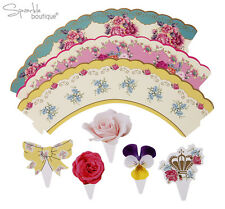 Vintage Cupcake Wraps/Cases & Cake Toppers-FULL TRULY SCRUMPTIOUS RANGE IN SHOP