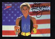 DARA TORRES OLYMPIC 12 TIME MEDALIST SWIMMING GREAT SIGNED UNUSED POSTCARD COA