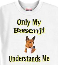 Big Dog T-Shirt - Only My Basenji Understands Me Men Women Adopt Animal Friend 7