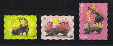 SINGAPORE 2010 ZODIAC YEAR OF TIGERS COMP. SET OF 3 STAMPS IN FINE USED CONDITIO