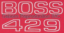 Mustang Boss 429 Fender Decal White DF226 1969 - 1970 - Osborn Reproductions