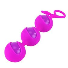 Purple 3 Bead Silicone Ben Wa Balls Kegel Training Vaginal Tighten Exerciser