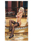 THIGH HIGH STOCKINGS WITH STAY UP SILICONE LACE TOPS Size OS & QN Multi Colors